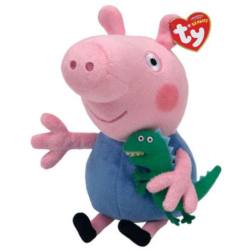 George Beanie Plush Soft Toy Dinosaur Peppa Pig
